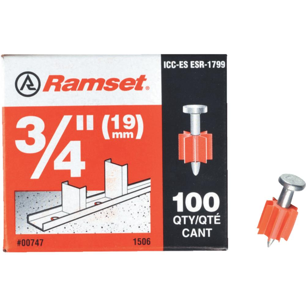 "ITW Brands 100 Pack 3/4"" Fastening Pin 00747"