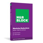 H&R Block, Maximize Deductions, Deluxe + State Tax Software 2020