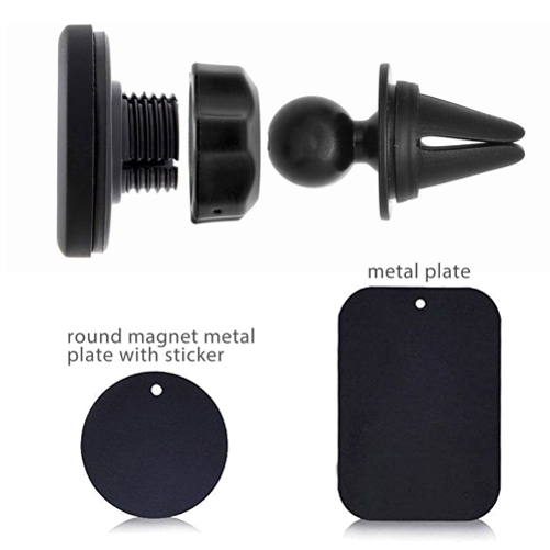 MagnetoMount Clip Jet Black Metal Car Air Vent Strong Magnet Mount for Samsung Galaxy A51 5G BoxWave Samsung Galaxy A51 5G Car Mount