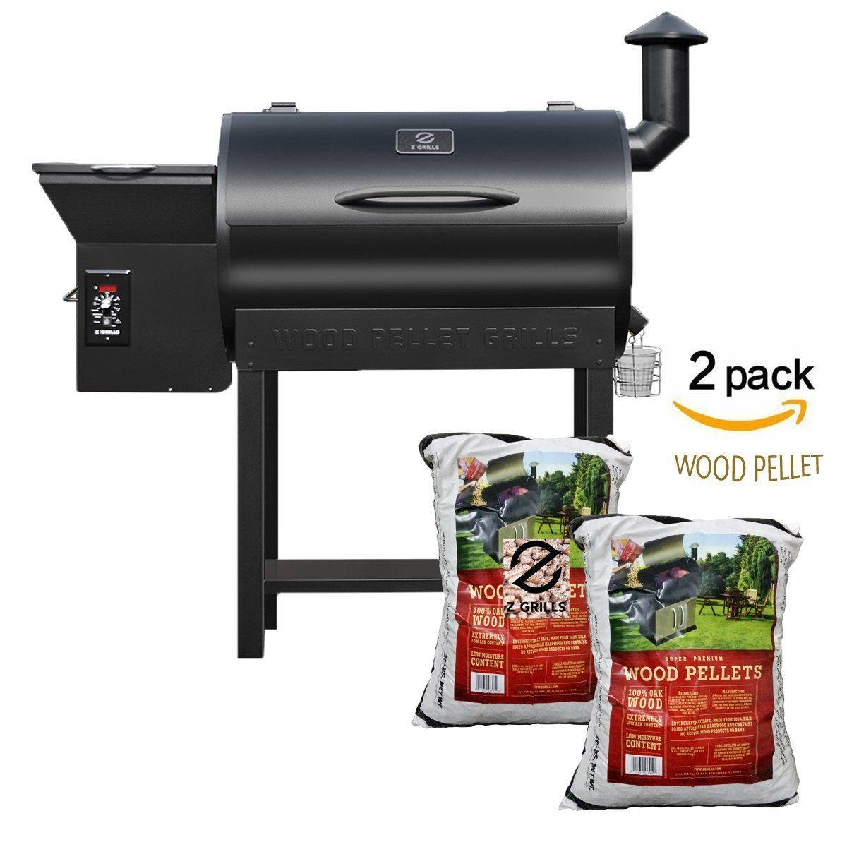 Z GRILLS Pellet Grill and Smoker BBQ with Digital Controls,684 Sq grilling Area