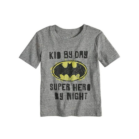 Little Boys Are Superheroes In Disguise (Toddler Boys Batman Kid by Day Super Hero By Night T-Shirt)