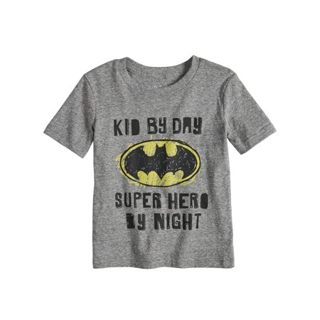 Toddler Boys Batman Kid by Day Super Hero By Night T-Shirt - Boy Superhero