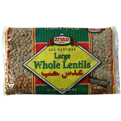 Ziyad Large Whole Lentils, 16 oz (Pack of 6)