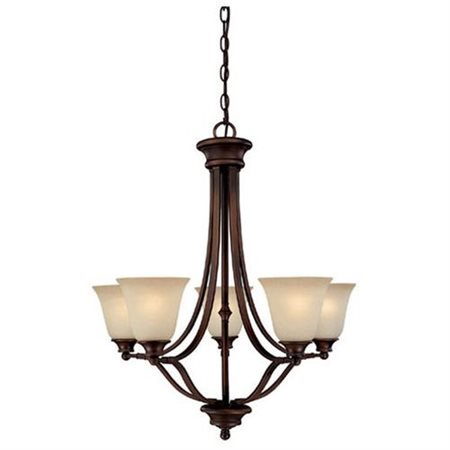 Modular Dark Bronze Chandelier - Belmont Five Light Chandelier in Burnished Bronze