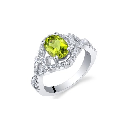 Peridot Sterling Silver Lace Ring Sizes 5 to 9 ()