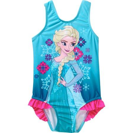 4def5552d5 Frozen - Disney Frozen Toddler Girl Elsa 1-piece Swimsuit - Walmart.com