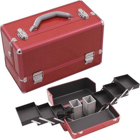 Hiker HK3201CRRD Red Croc Pro Makeup Case - - Day Hiker Kit