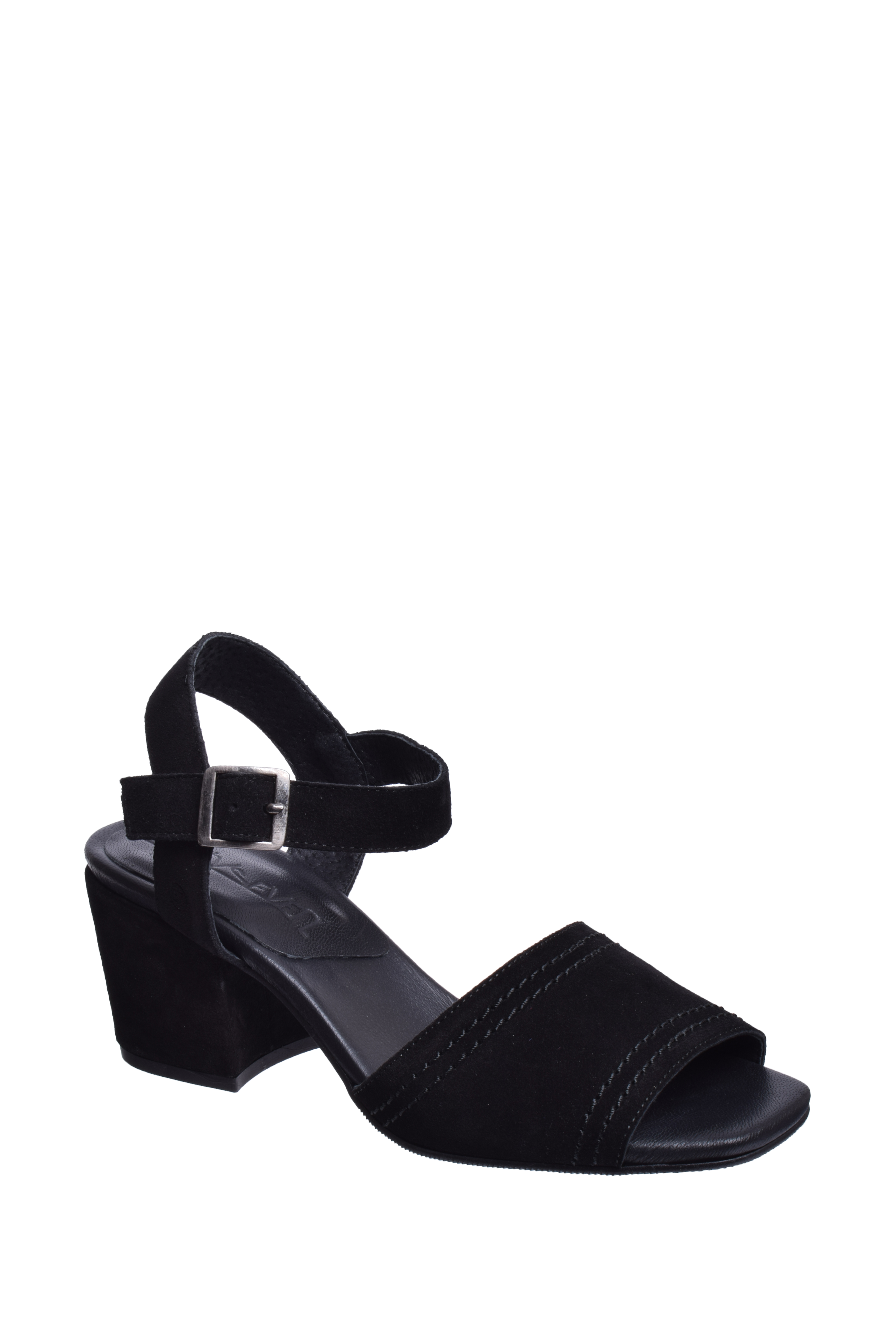 6d0f876e02 SixtySeven - SixtySeven Arif Mid Heel Sandal - Black Suede - Walmart.com