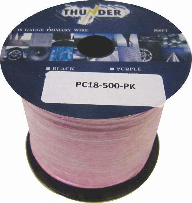 Avox PC18500PK Primary Wire 18ga 500ft Pink