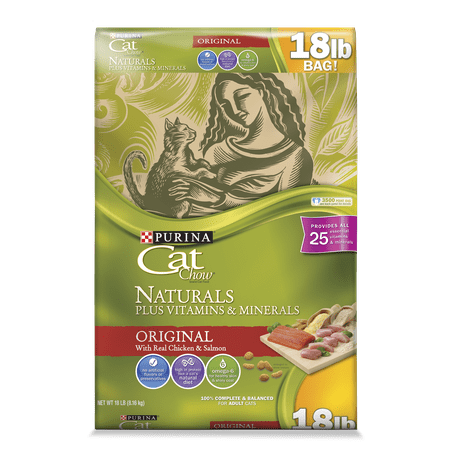 Cat Feather Natural (Purina Cat Chow Naturals Original Plus Vitamins & Minerals Dry Cat Food, 18)