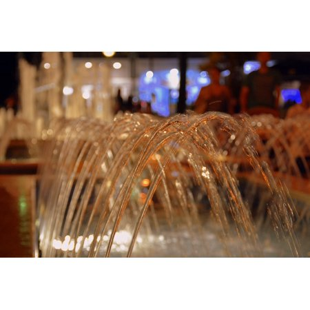 Canvas Print Gush Water Fontana Stretched Canvas 10 x - Party City Fontana