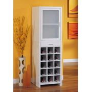 Dawn Fifteen Section Wine Cabinet in White Finish
