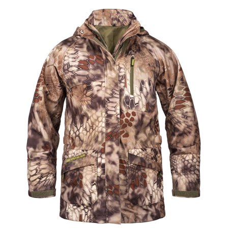 KODA Adventure Gear Youth Waterproof Hard Shell Jacket, Kryptek Highlander, X-Small (Youth 6/7)