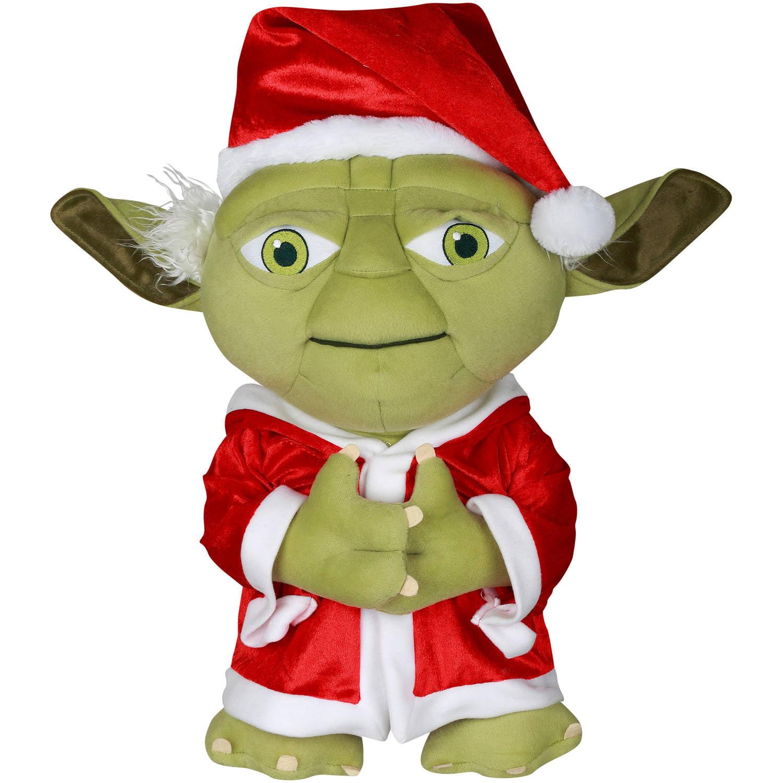Star Wars 21 Yoda Plush Christmas Greeter Walmart Com