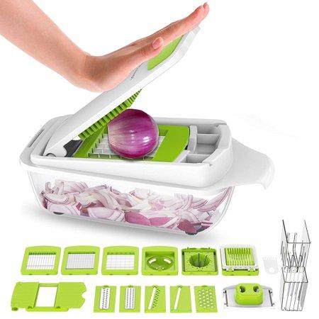 Salad Cutter (Vegetable Chopper Dicer Slicer Cutter-Fruit & Vegetable Tools,Lovkitchen Slicers for Fruits and Vegetables/Onion Salad Adjustable Stainless Steel Mandoline Food Salad Chopper)