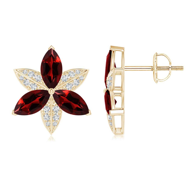 Angara 13 Carats Black Onyx Ball Stud Earrings in Yellow Gold 28tZeu92