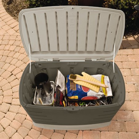- Rubbermaid 75 Gallon Plastic Deck Box