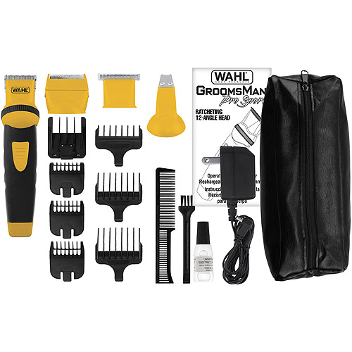 Wahl Groomsman Pro Sport Rechargeable Trimmer, Black/Yellow (99531301)