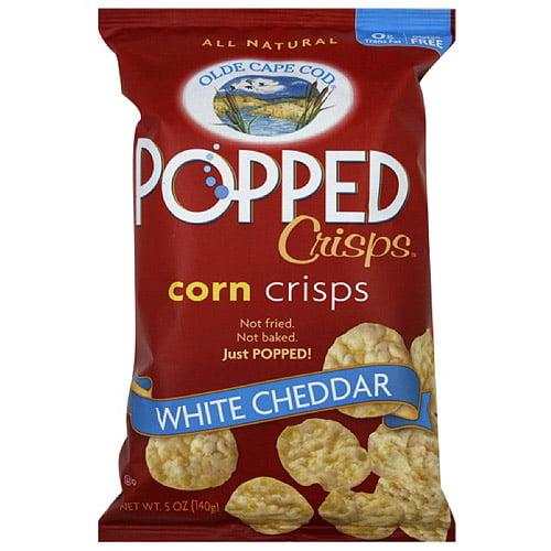Olde Cape Cod White Cheddar Popped Corn Crisps, 5 oz  (Pack of 12)