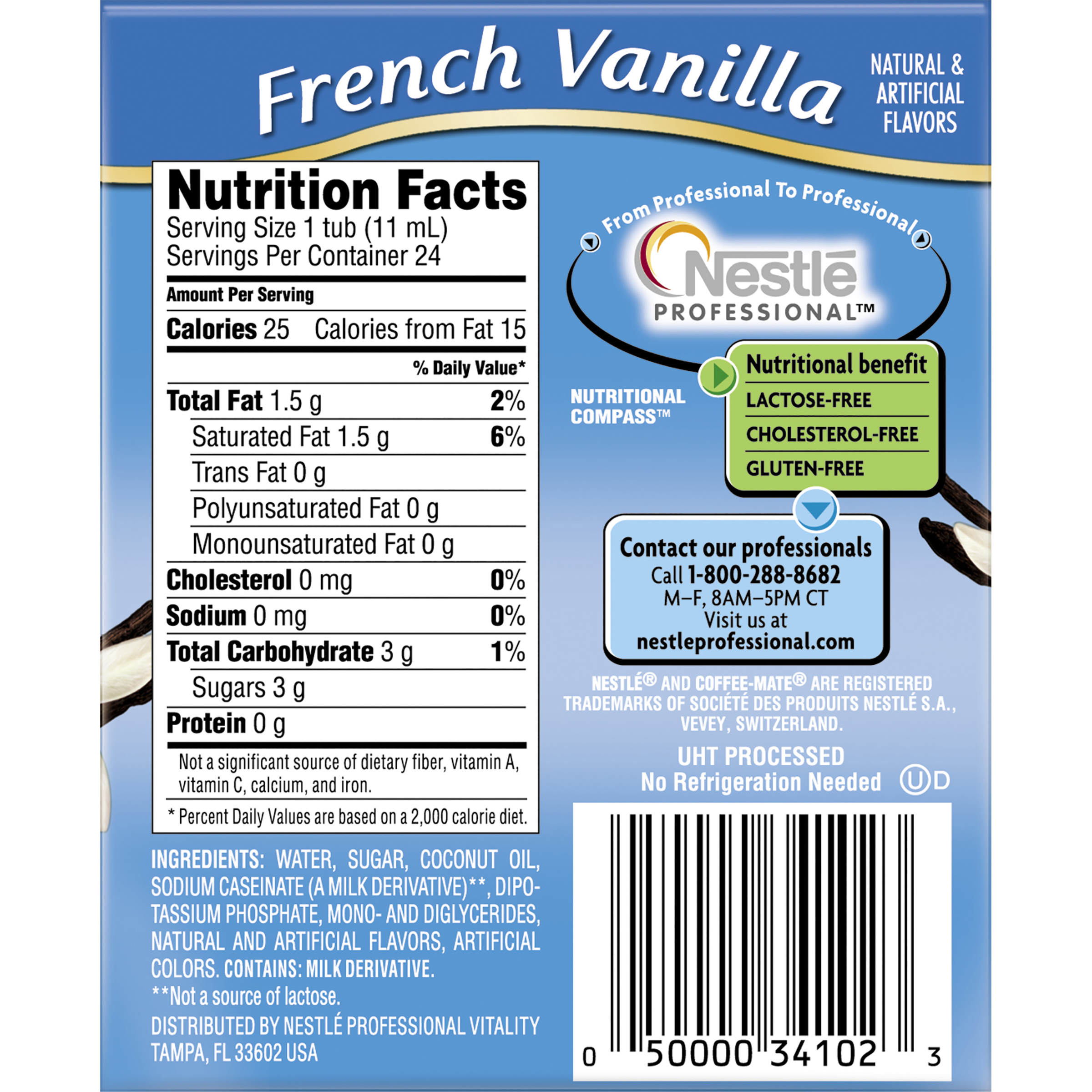 Calories in coffee mate french vanilla creamer