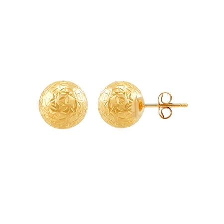 Brilliance Fine Jewelry 10K Yellow Gold 8mm Ball Stud Earrings