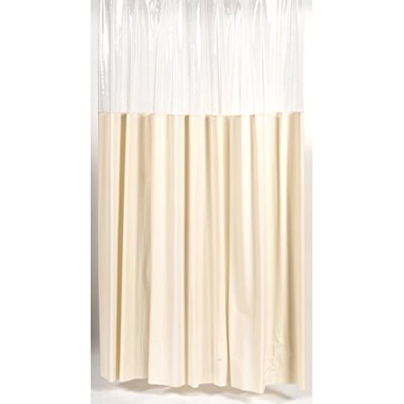Royal Bath Extra Long 10 Gauge Window Vinyl Shower Curtain Liner With Metal Grommets 72 X 84