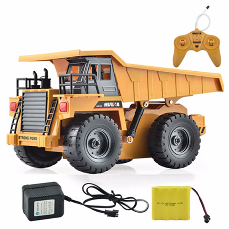 1/18 40HMZ 6 Channels Electric RC Remote Control Lorry Dump Truck Toys Car Kids Children Christmas Birthday Gift Present