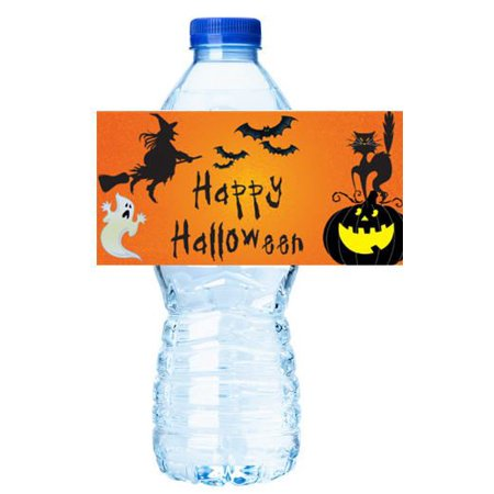 Halloween Party Decorations 15ct Water Bottle Sticker Labels