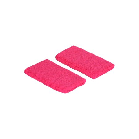 Terry Cloth 2 Pair 4 Pieces Wristbands Long Hot Pink