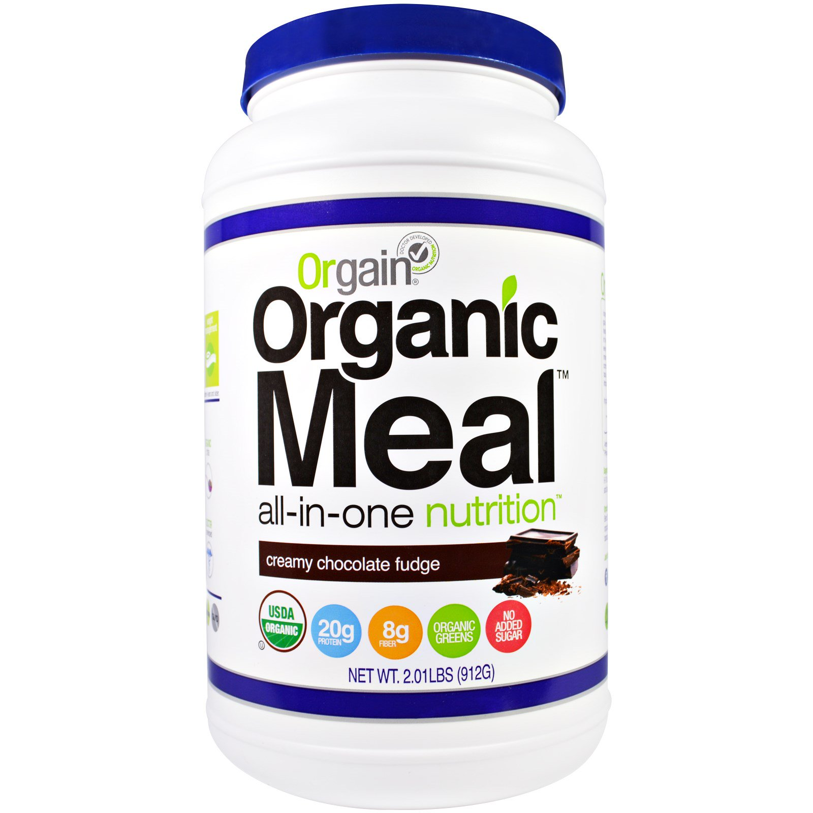 Orgain, Organic Meal, All-In-One Nutrition, Creamy Chocolate Fudge, 2.01 lbs(pack of 1)