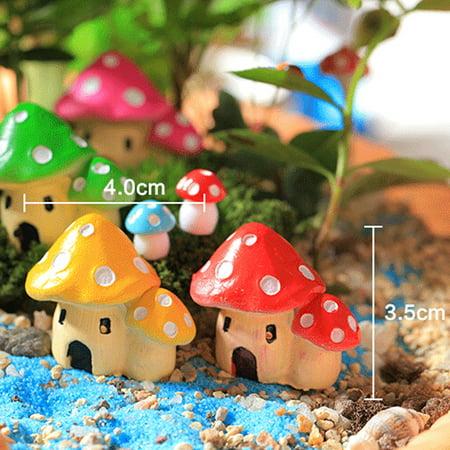 fashionhome Mushroom House Garden Ornament Resin Figurine Decor - image 4 of 8