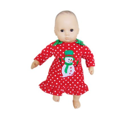My Brittany's Snowman Nightgown for American Girl Doll Bitty Baby and Bitty Twins- 15 Inch Doll Clothes (Baby Doll Nightgown For Girls)