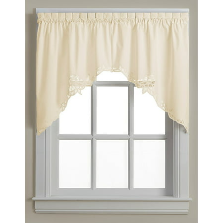 Battenburg ecru lace kitchen curtain swag (Swag Cotton Curtain)