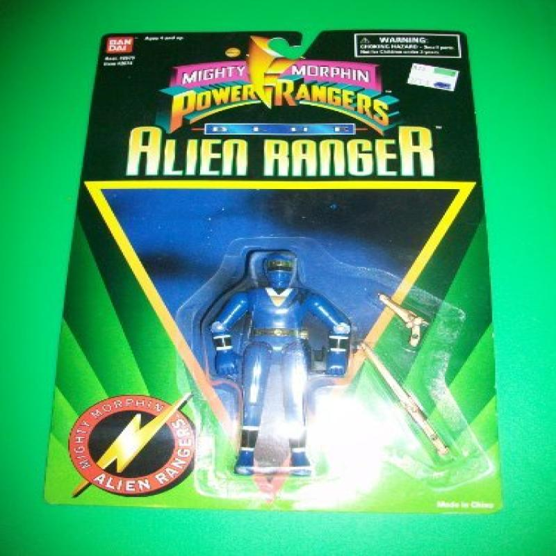 Power Rangers 1995 Blue Alien Ranger Action Figure MOSC MOC New by