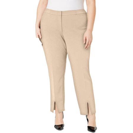 Calvin Klein Womens Split Front Casual Trouser Pants