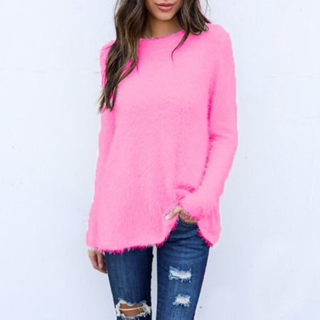 Rugby Stripe Crewneck Sweater - Womens Crewneck Fleece Round Neck Loose Shirts Button Warm Casual Sweater Several Colors Long Sleeve Tops Fashion New Casual Sweater Outwear Pullover