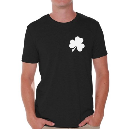 Awkward Styles Shamrock Pocket Size Shirt Shamrock Green T-Shirt for Men Men's St. Patrick's Day Shirts Lucky Charm Gifts Proud Irish American Men Green Outfits for St. Paddy's Day Irish Clover Gifts - Shamrock Skirt