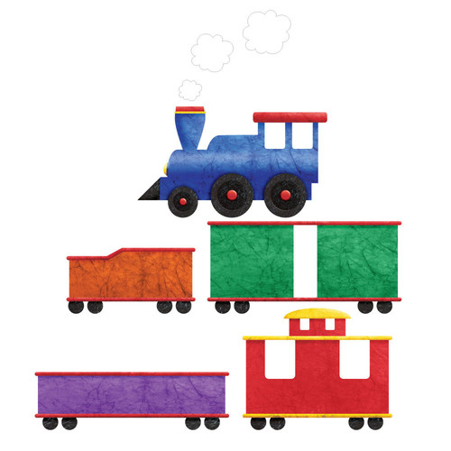 My Wonderful Walls 5 Piece Left Facing Train Wall Decal Set