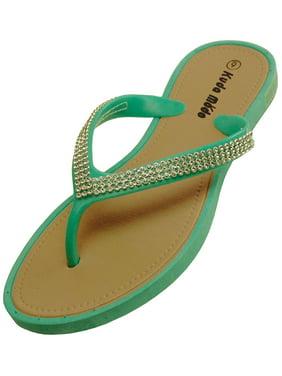 16c9c03a5 Product Image Women s Summer Bling Shinning Rhinestone Studded Strap Casual  Thong Flat Flip Flops Sandals Slipper