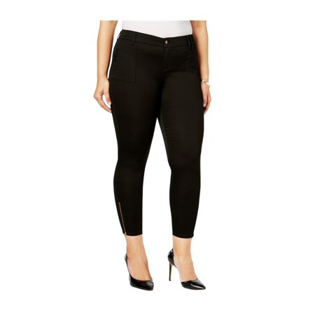 86bf2ab689c50 Celebrity Pink Womens Plus Size Solid Zip Skinny Fit Jeans black 22x26 -  Juniors - image ...