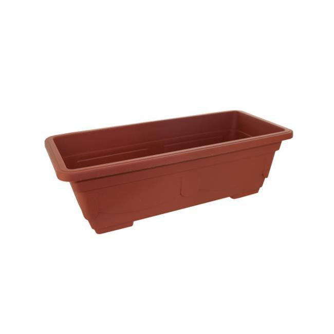 Bulk Buys UU764-24 Rectangular, Clay-Look Plastic Flower Pot