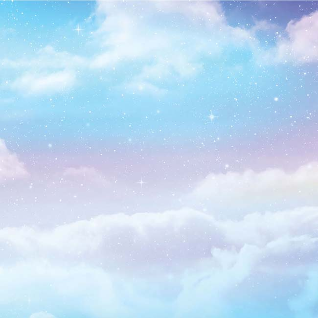 """Unicorn Clouds - American Crafts Everyday Single-Sided Cardstock 12""""X12"""" (25/pack)"""