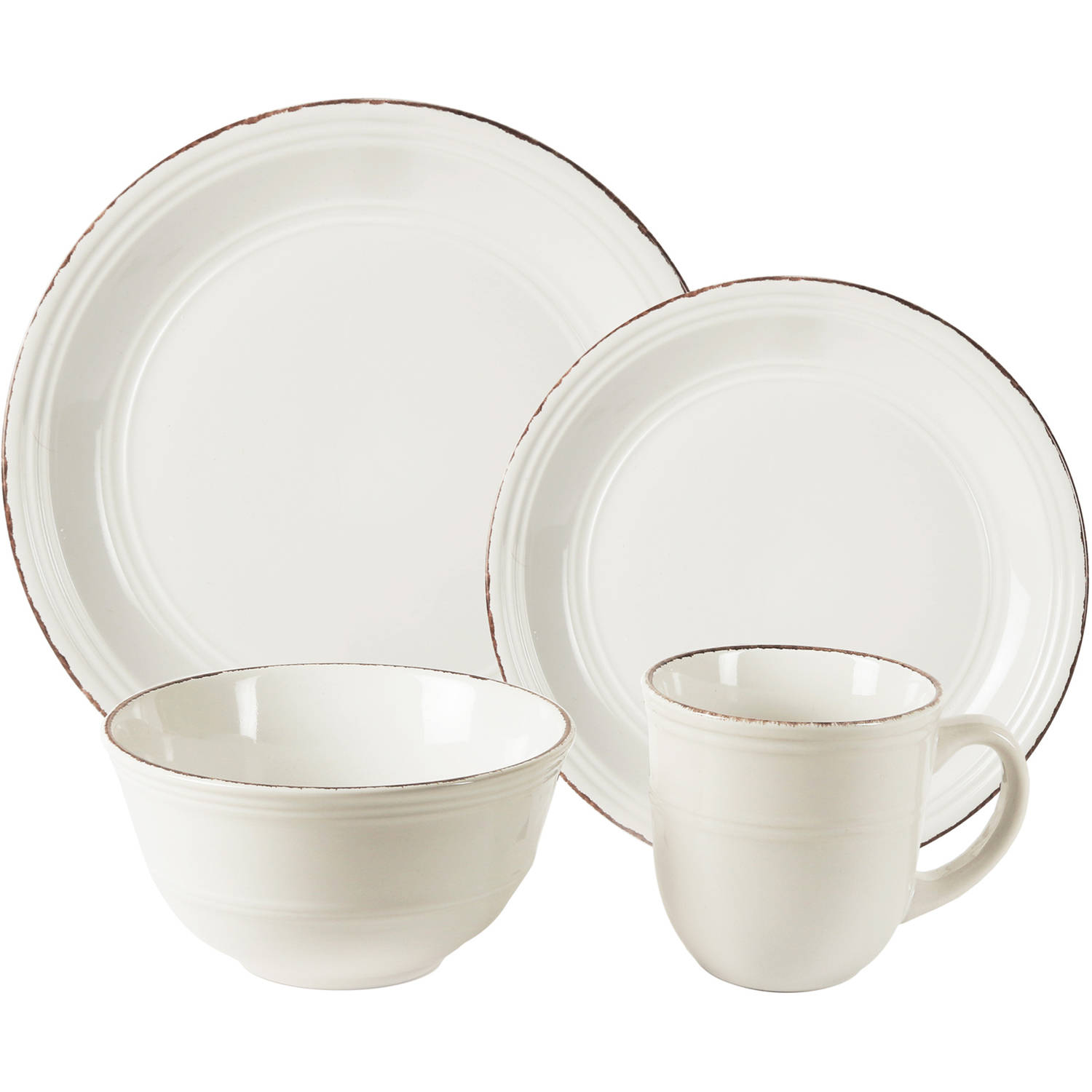 Madelyn White 16-Piece Dinnerware Set