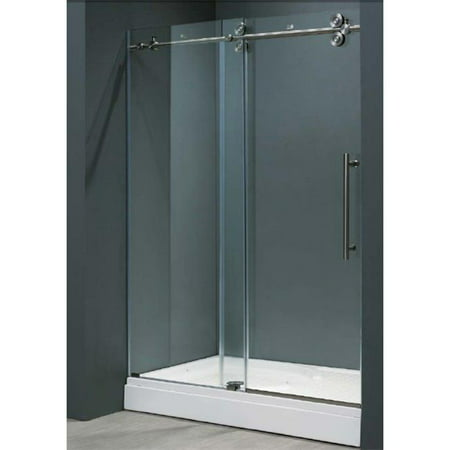 Vigo vg6041stcl4874 48 inch frameless shower door 38quot clear vigo vg6041stcl4874 48 inch frameless shower door 38quot clear glass stainless steel eventshaper