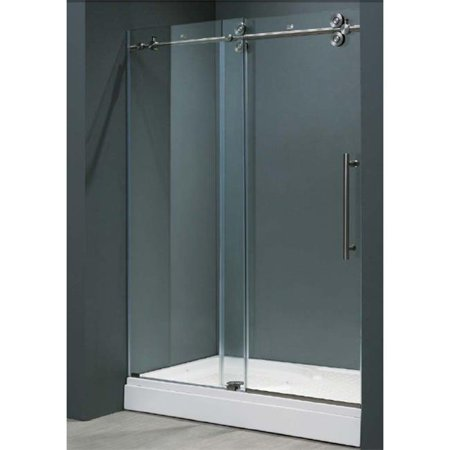 Vigo Vg6041stcl4874 48 Inch Frameless Shower Door 3 8  Clear Glass Stainless Steel Hardware