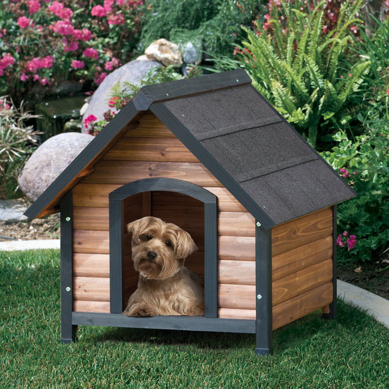 Precision extreme outback log cabin dog house walmartcom for Extreme dog houses