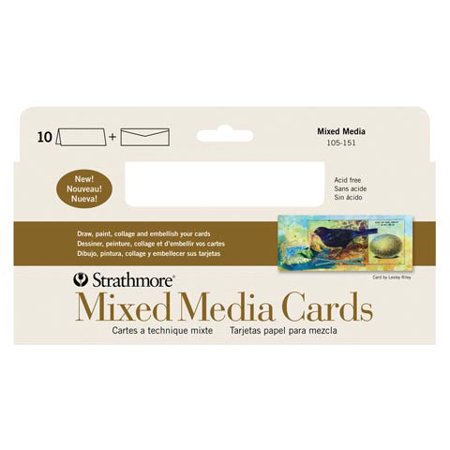 Strathmore mixed media greeting cards envelopes pack of 10 37x8 strathmore mixed media greeting cards envelopes pack of 10 37x85quot m4hsunfo