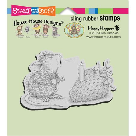 Stampendous House Mouse Cling Stamp -Strawberry Wish - image 1 of 1