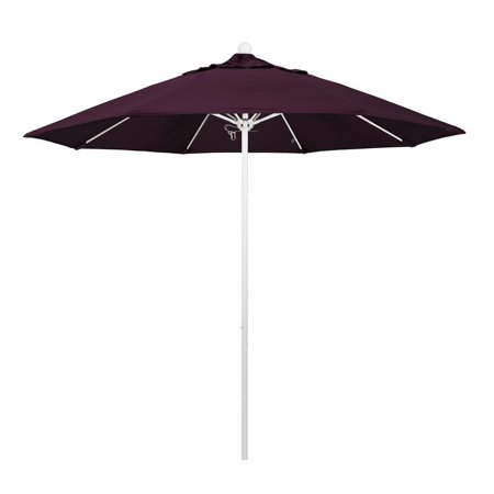 Image of California Umbrella Venture Series Patio Market Umbrella in Pacifica with Aluminum Pole Fiberglass Ribs