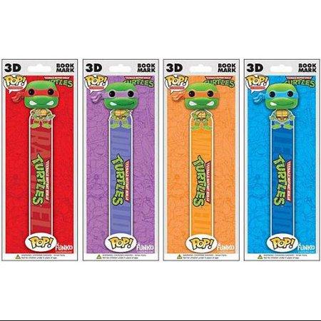 Funko POP! Teenage Mutant Ninja Turtles 3D Bookmark Set Raphael. Leonardo, Donatello & Michelangelo - 3d Bookmarks For Kids